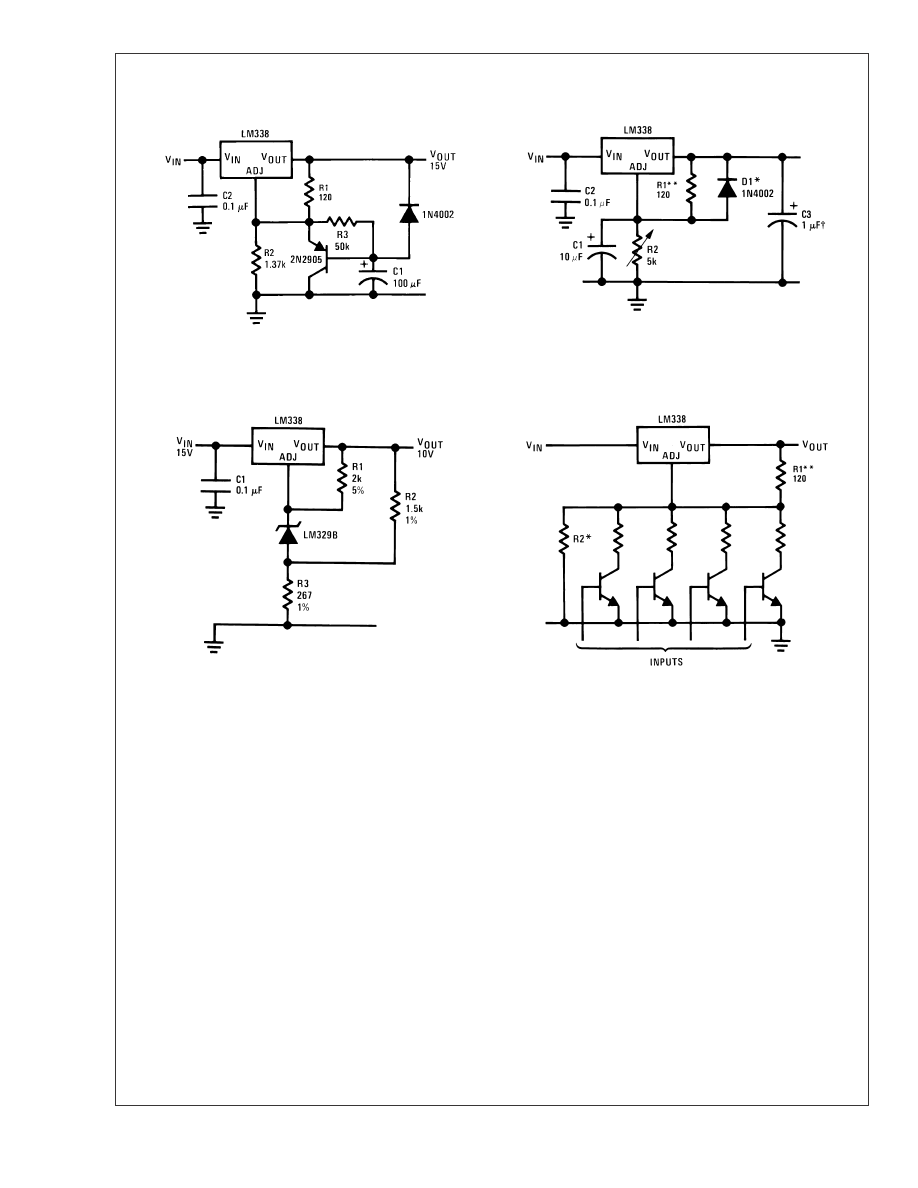 D1 Prevents Shorting In Case Of Failure Condition In The Lm338 D2