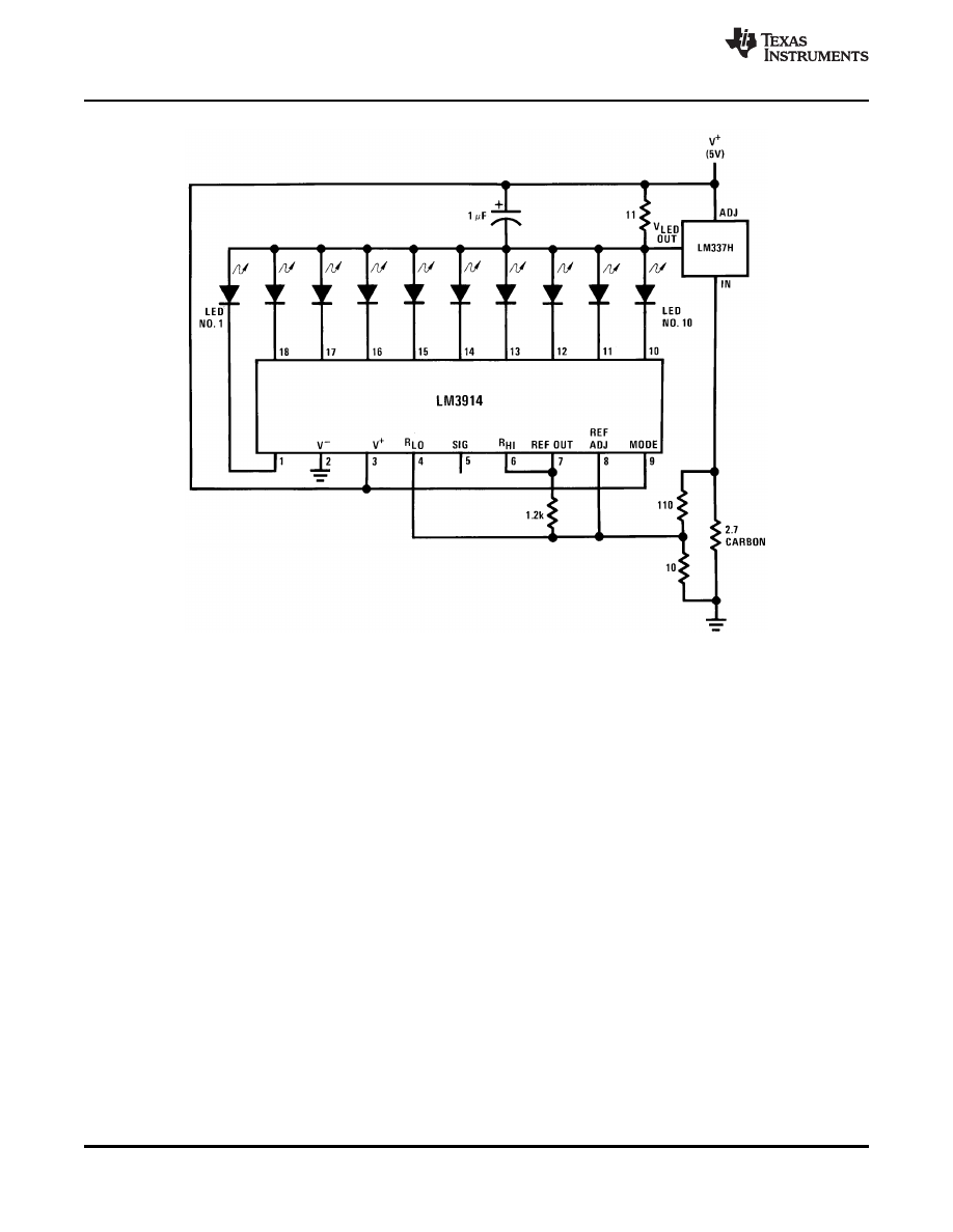 Caracteristicas Tecnicas De Lm3914 Datasheet Circuit Led Bar Ic Picture Of Good Electronic Background Image