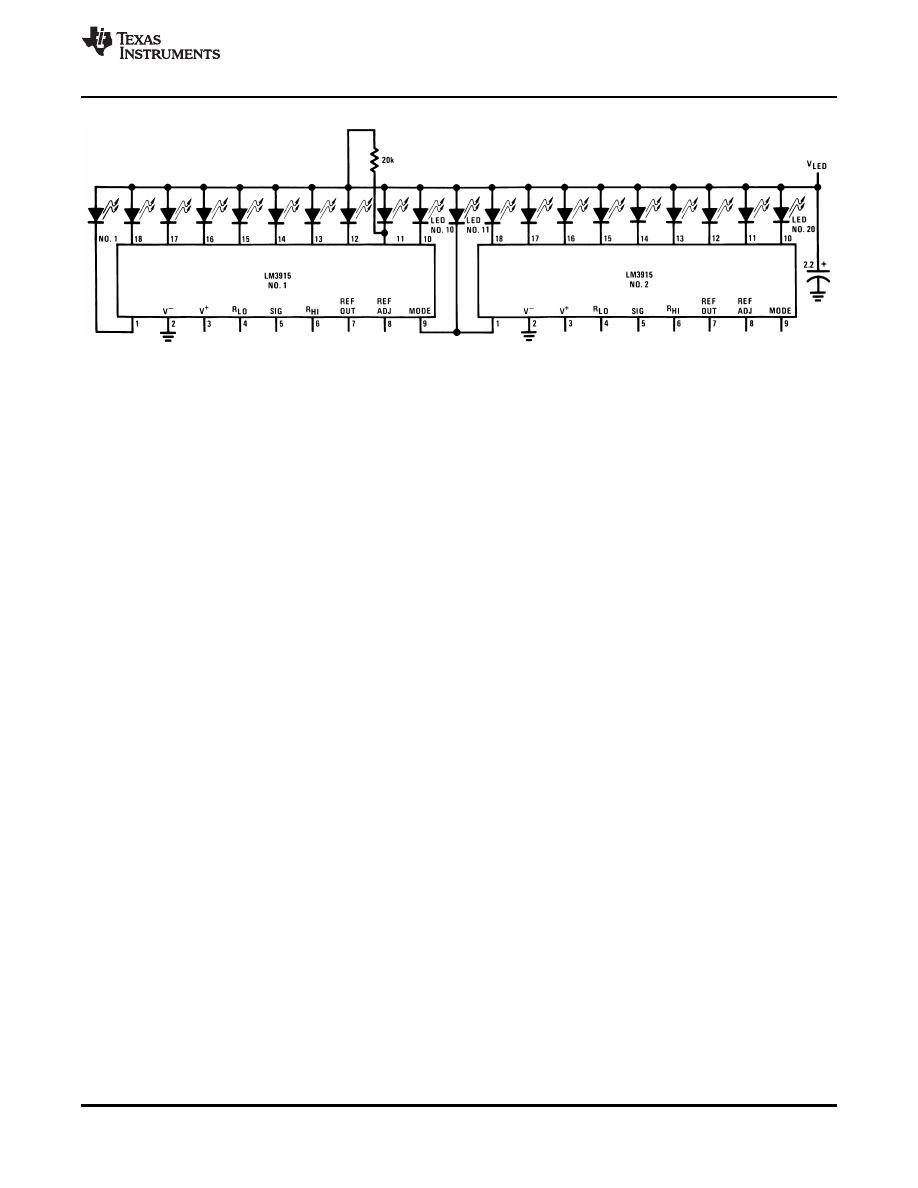 Caracteristicas Tecnicas De Lm3915 Datasheet Vu Meter Circuit Filter I Background Image