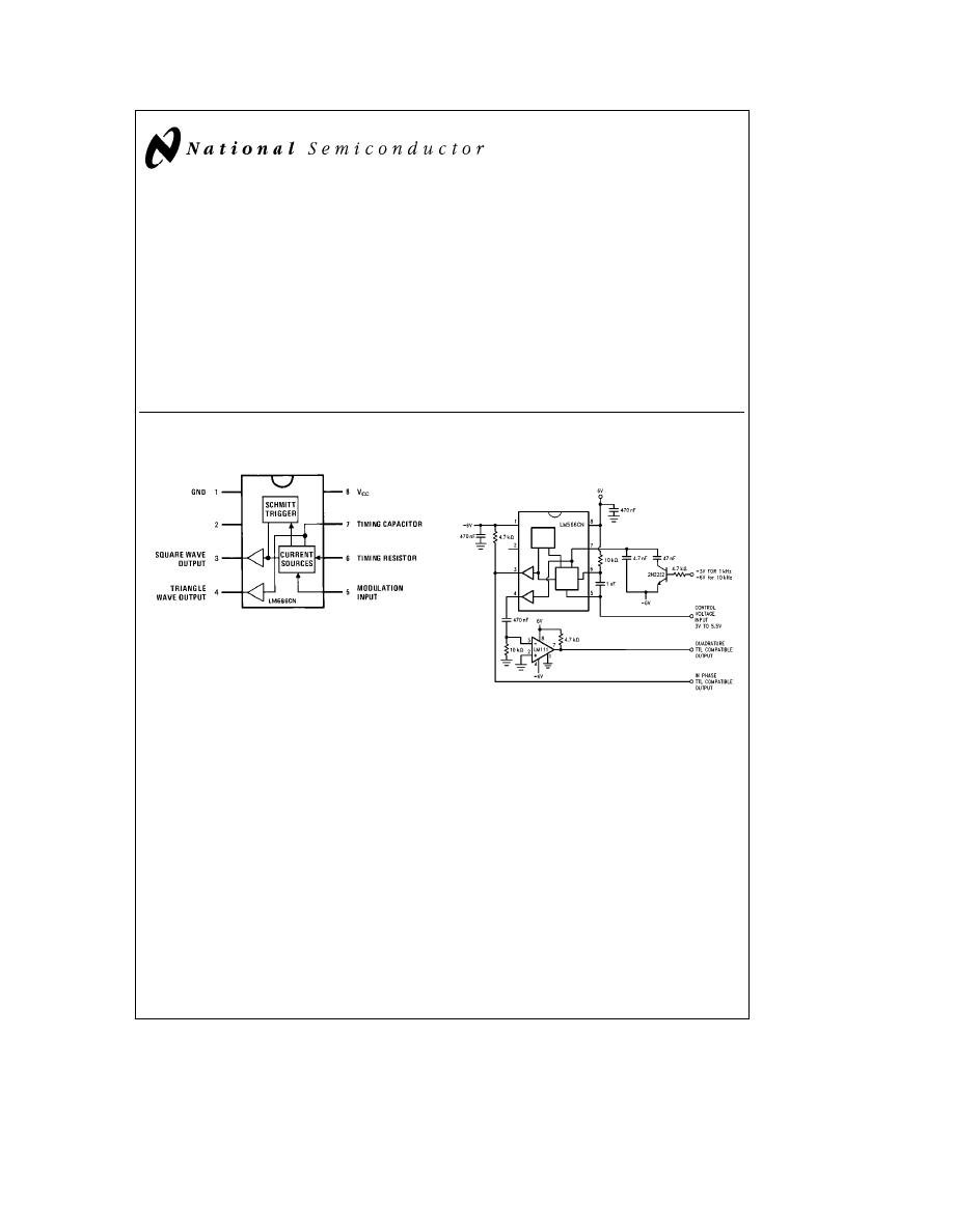 Caracteristicas Tecnicas De Lm566c Datasheet Triangular Wave Generator Circuit Background Image