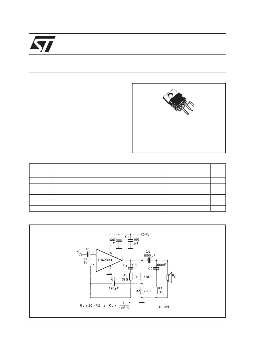 Caracteristicas tecnicas de tda2003 datasheet.