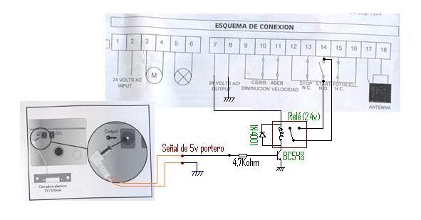Conectar portero automatico a motor de puerta corredera - Como instalar un motor de puerta de garaje ...